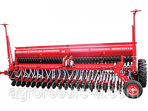 Сеялка зерновая Альфа 6 (вариатор,прикатка, транспорт., сист.контр.) Эльворти