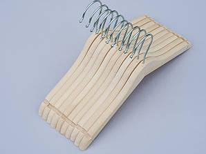Плечики детские деревянные ECO светлые, 31,5 см, 10 штук в упаковке