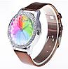 Женские кварцевые модные часы с лазерной 3d печатью и коричневым ремешком, фото 2