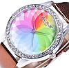 Женские кварцевые модные часы с лазерной 3d печатью и коричневым ремешком, фото 3