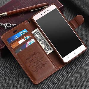 """Xiaomi Redmi 3X оригинальный кожаный чехол книжка кошелёк с карманами противоударный на телефон """"ASPENZ"""""""