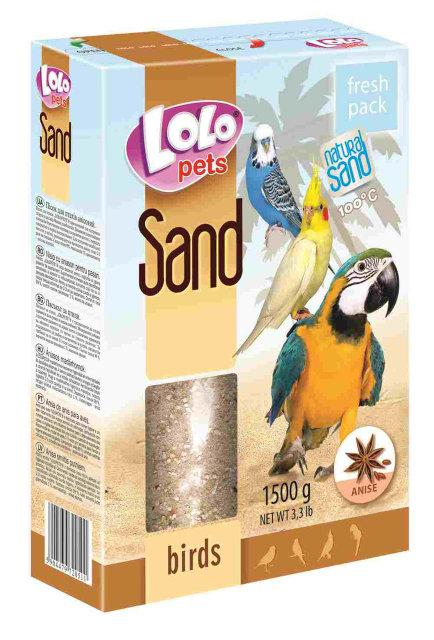 Песок анисовый для птиц 1,5 кг Lolopets