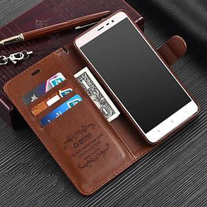 """Xiaomi Redmi Note 3 оригинальный кожаный чехол книжка кошелёк с карманами противоударный на телефон """"ASPENZ"""""""
