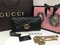 Изысканный клатч-сумочка Gucci на длинной цепочке из натуральной кожи 1841, фото 1