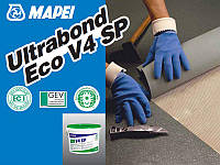 Клей для укладки ПВХ , резиновых и ковровых покрытий Ultrabond Eco V4 SP.16 кг.Mapei.