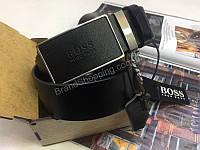 Мужской кожаный ремень Hugo Boss в подарочной упаковке 1860, фото 1