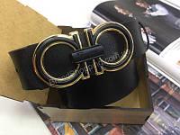 Стильный ремень Ferragammo фурнитура золото 1859, фото 1