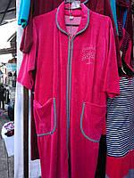 Женский велюровый халат