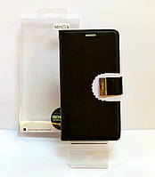 Чехол книжка на телефон Xiaomi Note 5a Goospery черного цвета