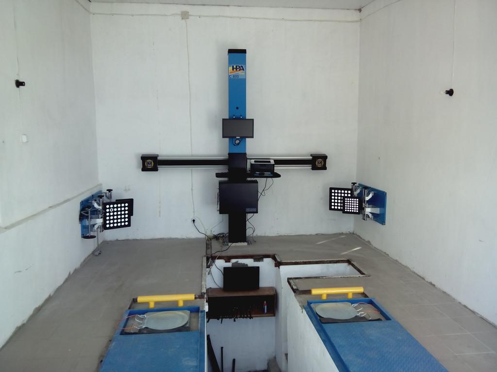 Установка стенда развал-схождения С800 HPA 3D на яму в Болграде
