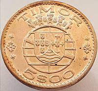 Португальский Тимор 5 эскудо 1970 UNC