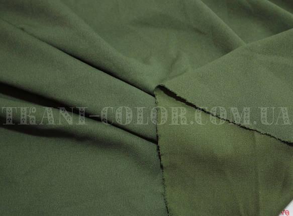 Трикотаж креп- дайвинг хаки, фото 2