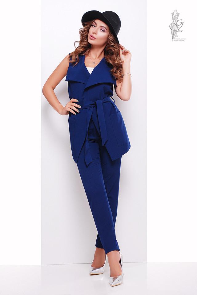 Синий цвет Стильного женского жакета Париж