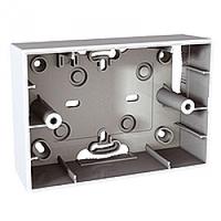 MGU8.103.18. Монтажная коробка для наружной проводки. 3-модуля. Unica Allegro Белый