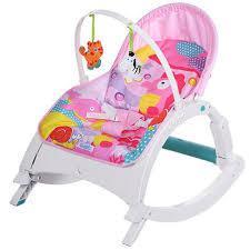 Шезлонг-кресло-качалка 7688 розовый ***