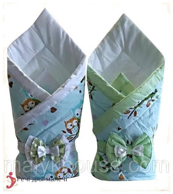 Конверт-одеяло на выписку Совушки