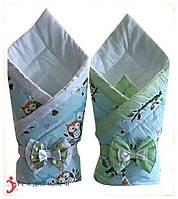 Конверт-ковдру на виписку Совушки, фото 1