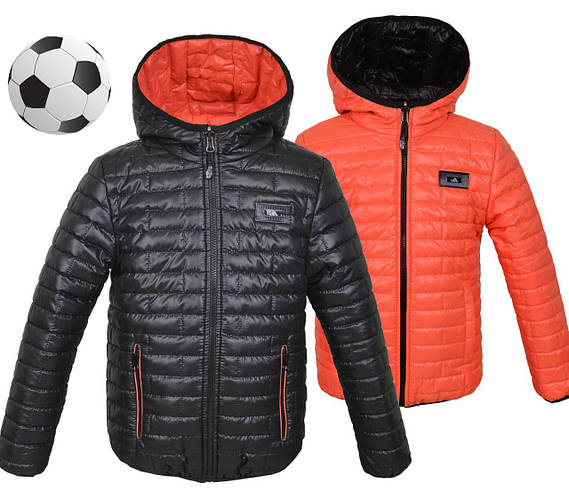 Стильная куртка для мальчика подростка  двухцветная