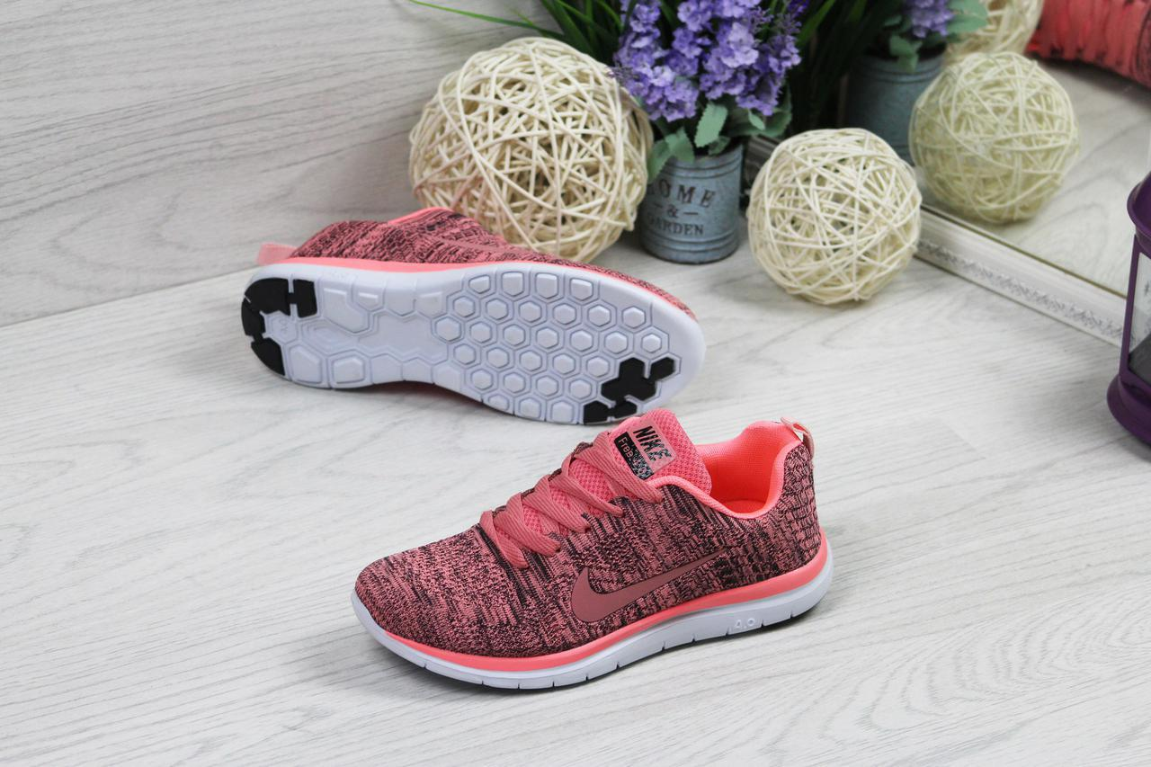 263cfc62 Кроссовки женские Nike Найк Free Run 4.0 код товара SD-4897. Темно-розовые