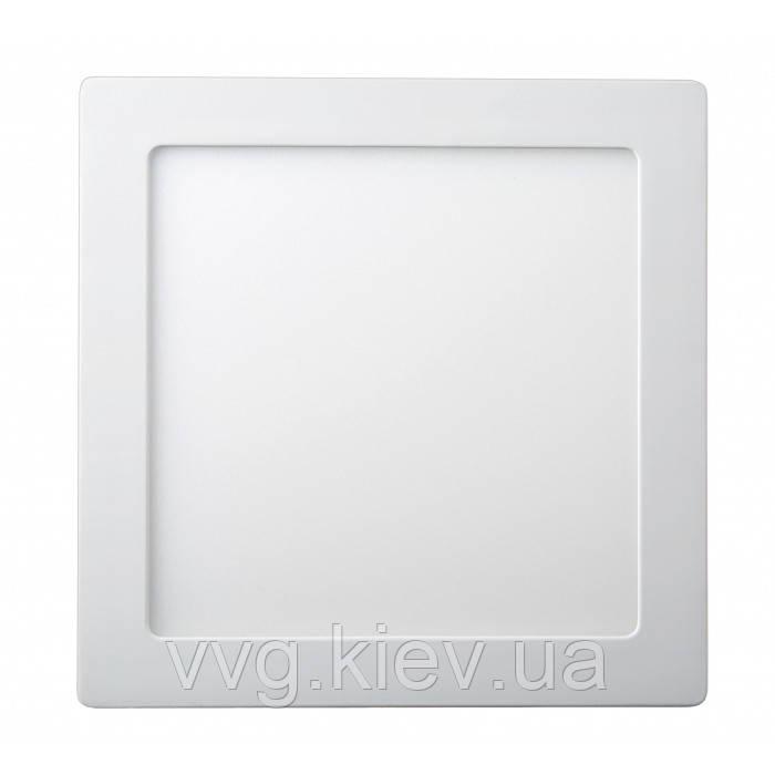 Точечный LED светильник накладной квадратный 18W 220x220мм 6400K 1440lm Lezard