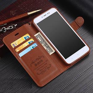 """Xiaomi Redmi Note 5A оригинальный кожаный чехол книжка кошелёк с карманами противоударный на телефон """"ASPENZ"""""""