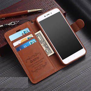 """Xiaomi Redmi 5A оригинальный кожаный чехол книжка кошелёк с карманами противоударный на телефон """"ASPENZ"""""""