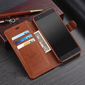 """Xiaomi Mi Note 3 оригинальный кожаный чехол книжка кошелёк с карманами противоударный на телефон """"ASPENZ"""""""
