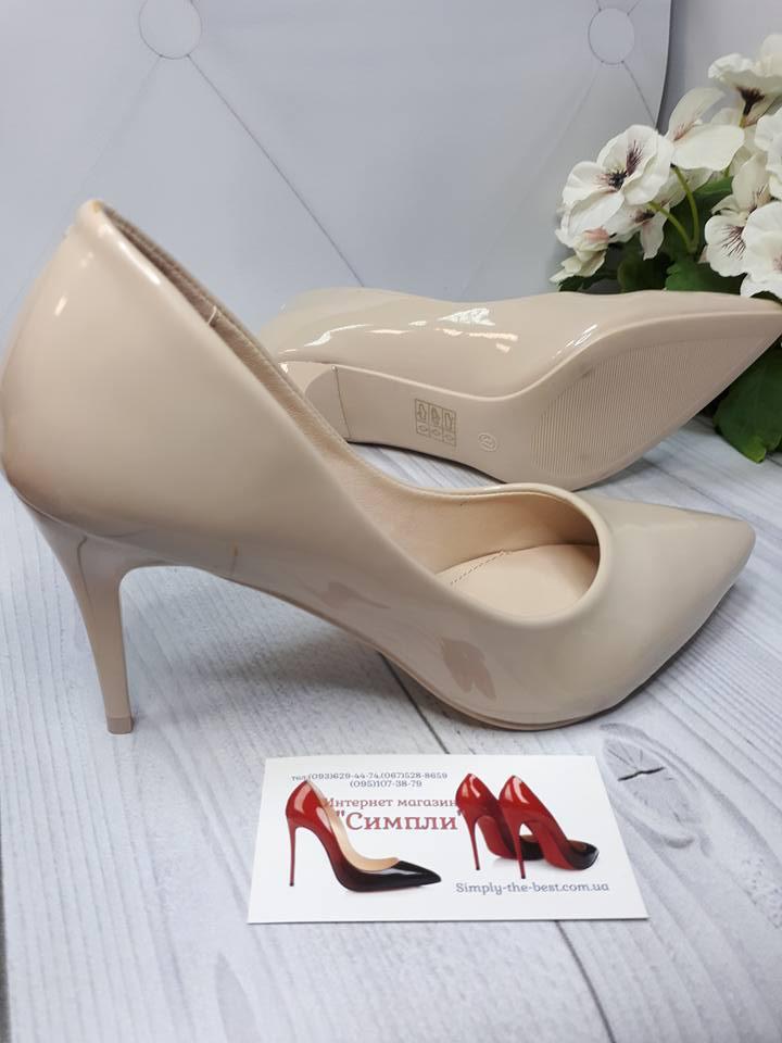 41a17c2ca Туфли женские каблук 8см бежевый лак недорого - интернет-магазин обуви