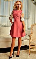 Короткое женское платье с широкими кружевными рукавами, фото 1