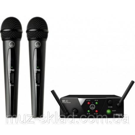 AKG WMS40 Mini2 Vocal Set BD US25A/B радиосистема UHF с двумя ручными микрофонами