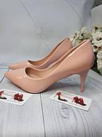 Туфли женские каблук   пинк пудра 6см каблук