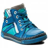 Кожаные туфли - кеды мальчику. Размер 24