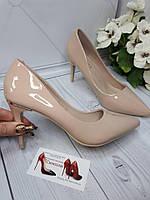 Туфлі жіночі класичні бежеві, фото 1