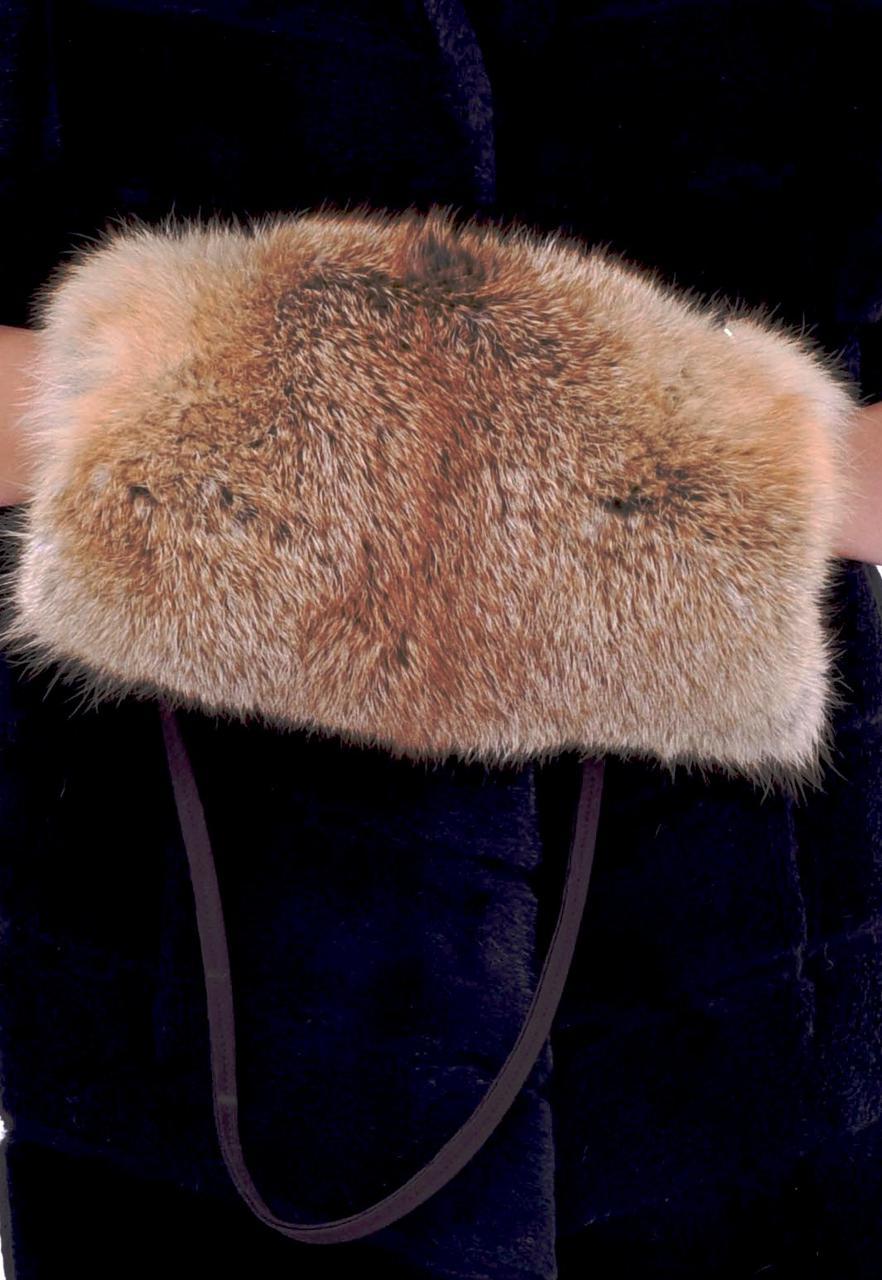 Меховая муфта из натурального меха лисички