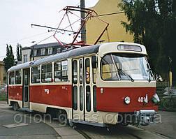 Скло переднє (лобове) трамвая Т3М