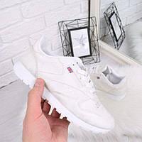 Кроссовки женские под Reebok белые с серебром 4479, спортивная обувь