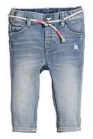 Джинсы для девочки H&M с поясом