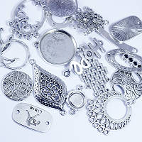 Коннекторы микс, металлические, античное серебро,  25гр УТ 00028276
