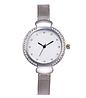 Женские часы серебристые с браслетом Миланского Плетения Mesh Straps, фото 2