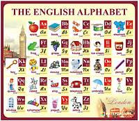 Стенд Алфавит английского языка с транскрипцией