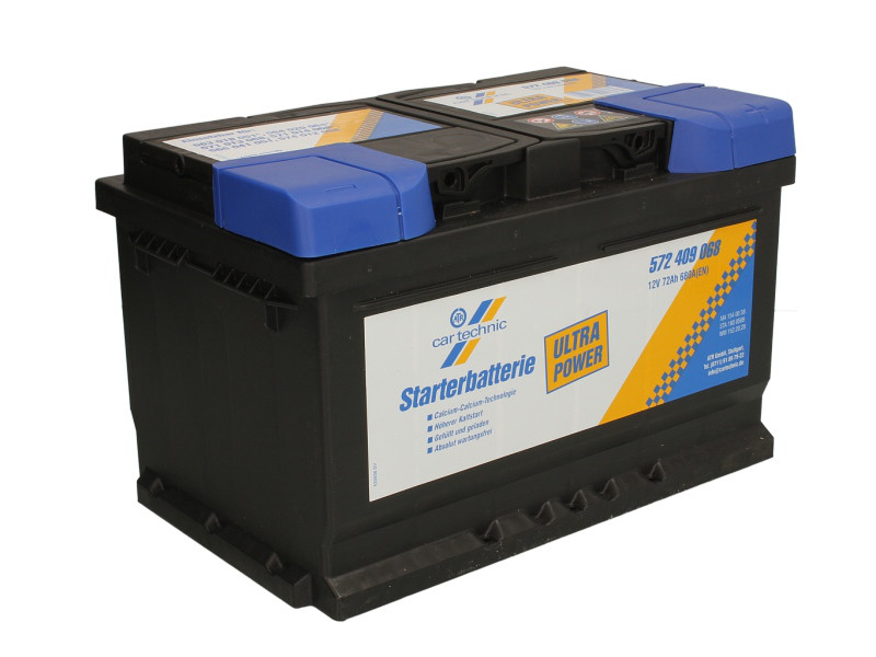 Аккумулятор Cartechnic 72Ah/680A ULTRA POWER (R+) 278x175x175 B13