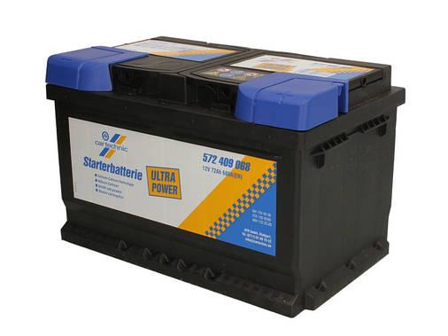 Аккумулятор Cartechnic 72Ah/680A ULTRA POWER (R+) 278x175x175 B13, фото 2