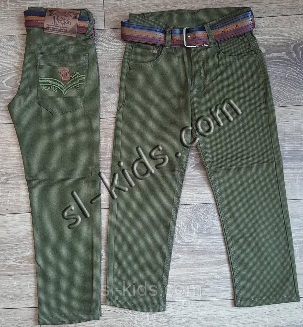 Яркие штаны,джинсы для мальчика 3-7 лет(ромбик оливковые) розн пр.Турция