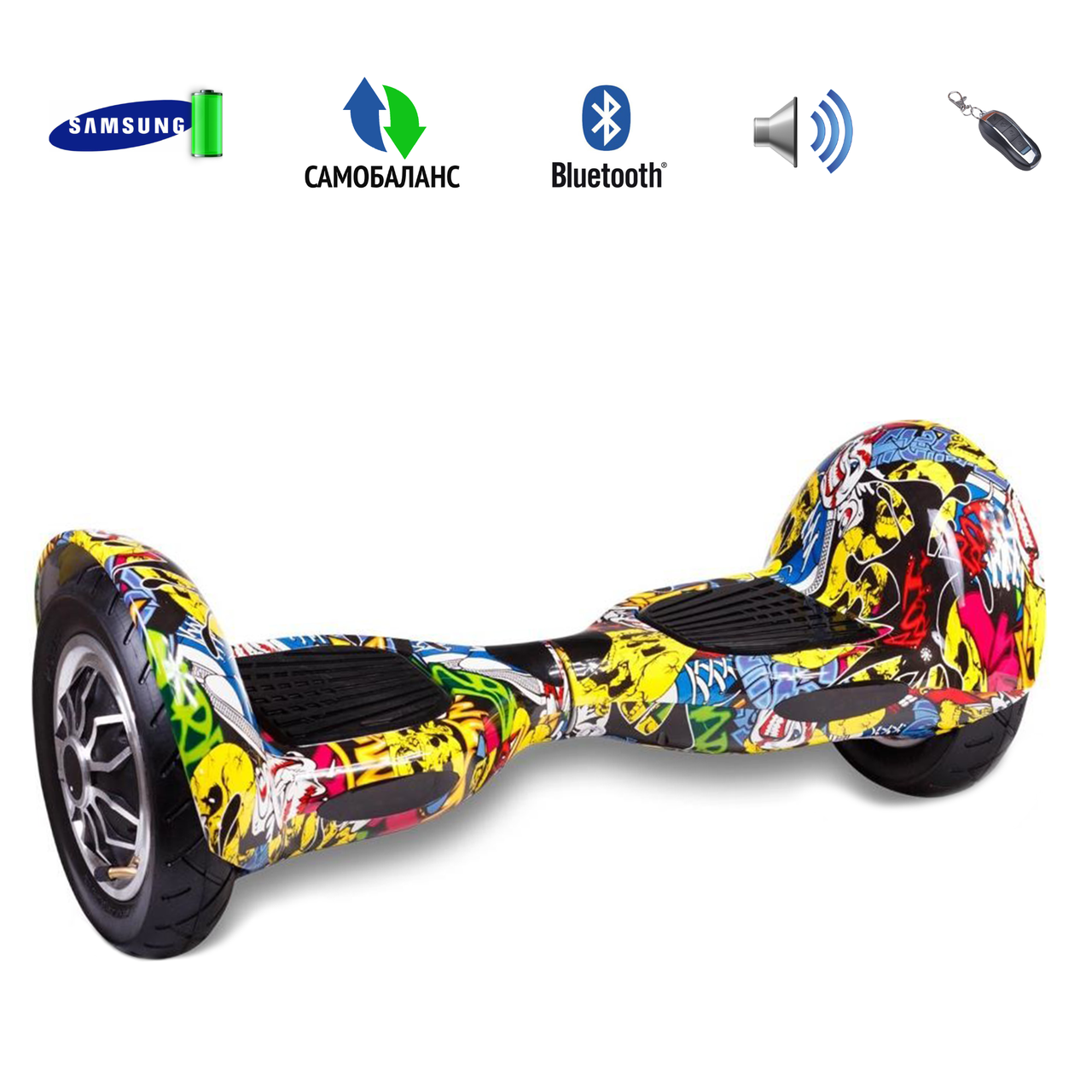 "Гироборд Smart Balance Wheel 10"" Bluetooth SD (АКБ Samsung) Оригинал Hip-Hop"