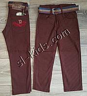 Яркие штаны,джинсы для мальчика 3-7 лет(ромбик бордовые) опт пр.Турция, фото 1
