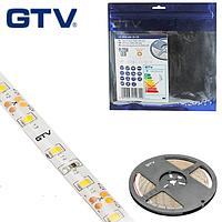 Светодиодная лента GTV, SMD 2835, 60 led/m, 6W/m, 3200K, IP65, Premium. ПОЛЬША!!! Гарантия - 2 года