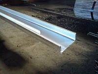 Швеллер оцинкованный гнутый 100х32х1,2 мм