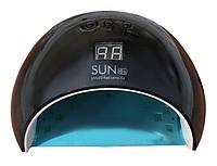 Лампа UV + LED Sun 6s на 48W — гибридная для маникюра и педикюра со сменным дном — Оригинал Гарантия черная