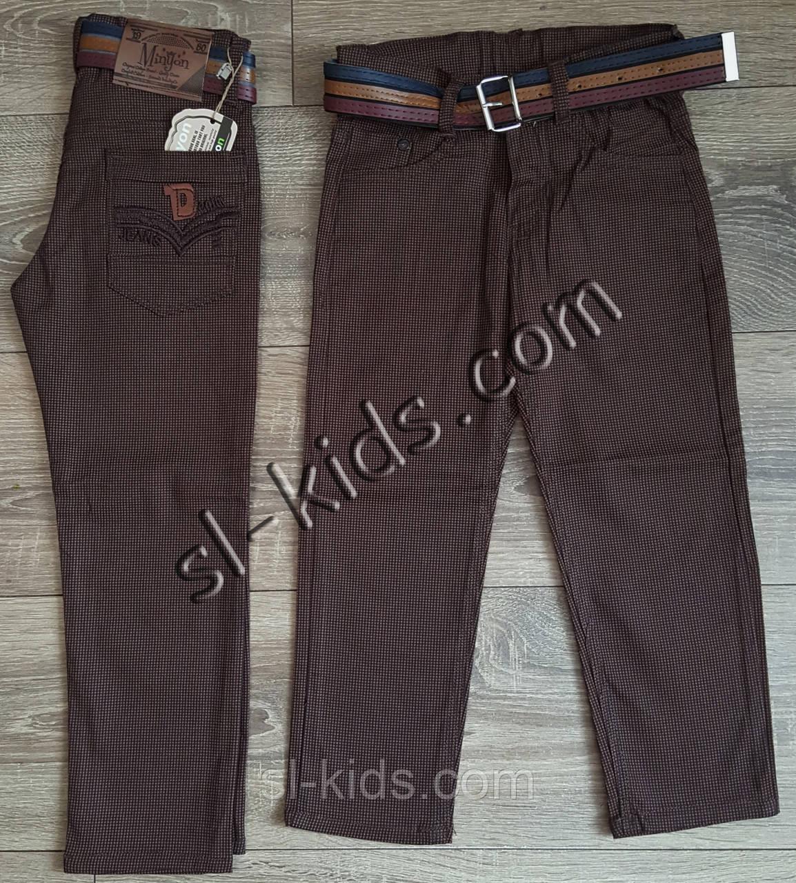 Яркие штаны,джинсы для мальчика 3-7 лет(ромбик шоколадные) опт пр.Турция