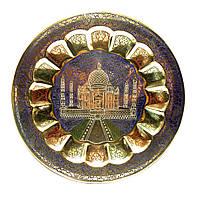 Тарелка бронзовая настенная декоративная (34 см)